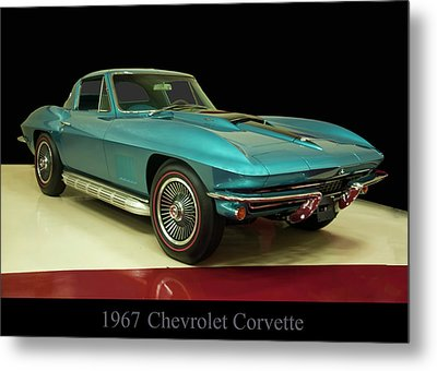 Metal Print featuring the digital art 1967 Chevrolet Corvette 2 by Chris Flees