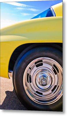 1967 Chevrolet Corvette Sport Coupe Rear Wheel Metal Print by Jill Reger