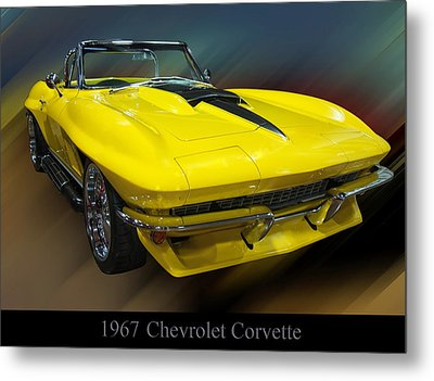 1967 Chevy Corvette Convertible Metal Print by Chris Flees