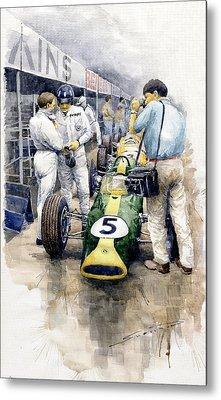 1967 Lotus 49t Ford Coswoorth Jim Clark Graham Hill Metal Print by Yuriy Shevchuk