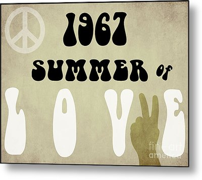 1967 Summer Of Love Newspaper Metal Print by Mindy Sommers