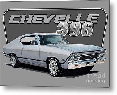 1968 Chevrolet Chevelle Metal Print