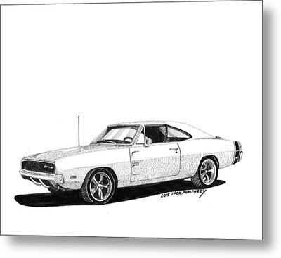 Dodge S R T 1968 Metal Print by Jack Pumphrey