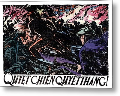 Metal Print featuring the painting 1968 North Vietnamese Propaganda by Historic Image