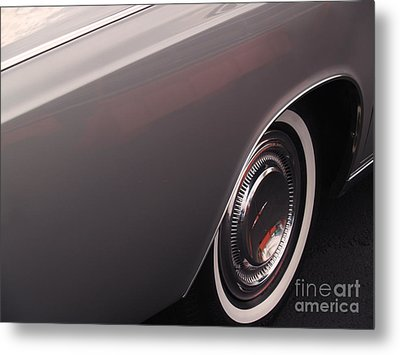 1968 Vintage Lincoln Sedan Fender Metal Print by Anna Lisa Yoder