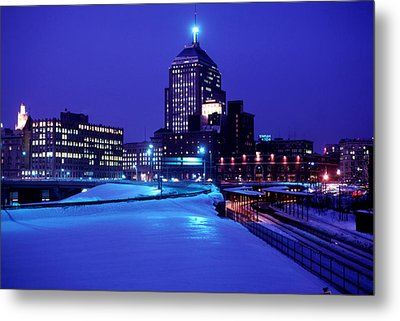Metal Print featuring the photograph  1969 Boston Twilight by Historic Image