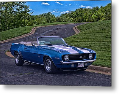 Metal Print featuring the photograph 1969 Camaro Ss Convertible by Tim McCullough