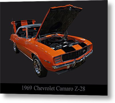 1969 Chevy Camaro Z28 Metal Print by Chris Flees