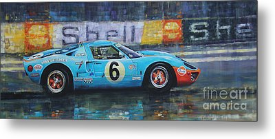 1969 Le Mans 24 Ford Gt40 Jacky Ickx Jackie Oliver Winner Metal Print by Yuriy Shevchuk