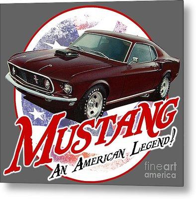 1969 Mustang Legend Metal Print