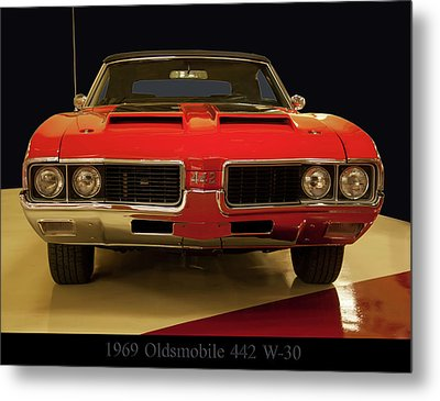 Metal Print featuring the photograph 1969 Oldsmobile 442 W-30 by Chris Flees