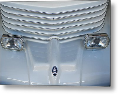 1970 Cord Royale Grille Hood Ornament Metal Print by Jill Reger