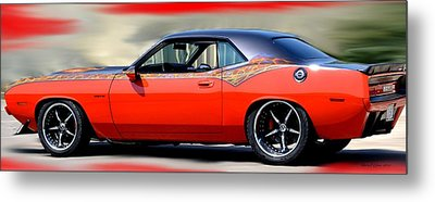 1970 Dodge Challenger Srt Metal Print by Maria Urso