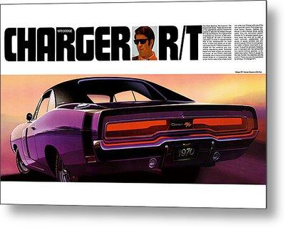 1970 Dodge Charger Rt Metal Print
