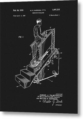1970 Exercise Machine Patent Metal Print