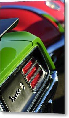 1970 Plymouth Barracuda Cuda Taillight Emblem Metal Print by Jill Reger