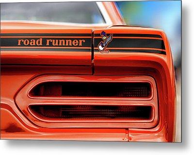 1970 Plymouth Road Runner - Vitamin C Orange Metal Print