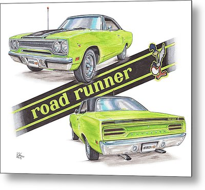 1970 Plymouth Road Runner Metal Print by Shannon Watts