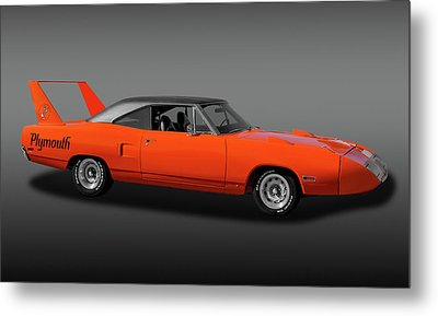 Metal Print featuring the photograph 1970 Plymouth Road Runner Superbird  -  1970plyrrsuperbirdfa170528 by Frank J Benz