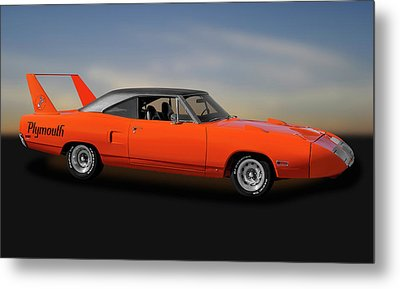 Metal Print featuring the photograph 1970 Plymouth Road Runner Superbird  -  1970superbird170528 by Frank J Benz