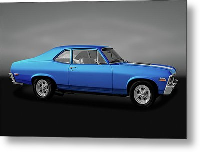 Metal Print featuring the photograph 1971 Chevrolet Nova Super Sport 350   -  1971chevynovassgry170507 by Frank J Benz