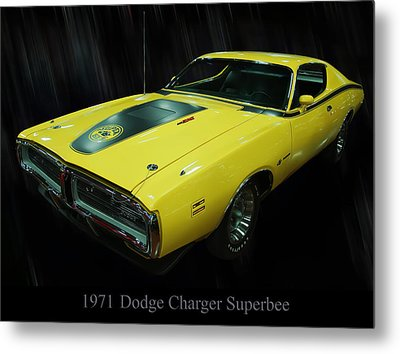 1971 Dodge Charger Superbee Metal Print