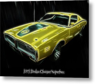 1971 Dodge Charger Superbee - Electric Metal Print
