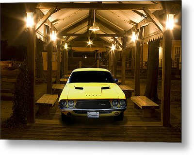 Metal Print featuring the photograph 1972 Challenger by Michael Cleere