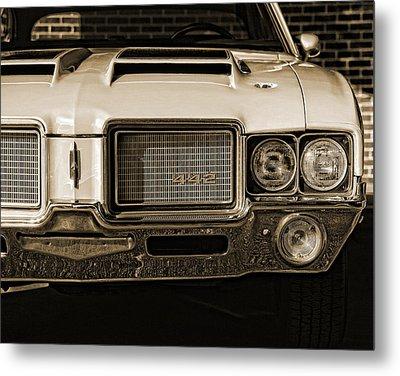 1972 Olds 442 - Sepia Metal Print by Gordon Dean II