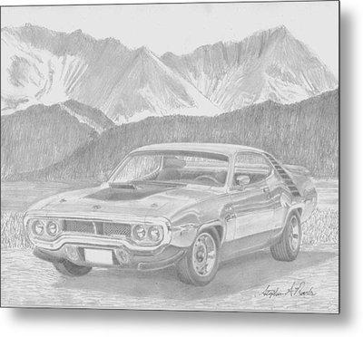 1972 Plymouth Roadrunner Muscle Car Art Print Metal Print