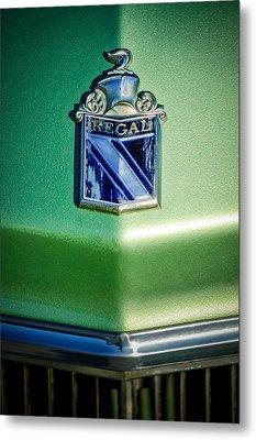 1973 Buick Regal Hood Ornament Metal Print by Jill Reger