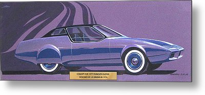 1974 Duster  Plymouth Styling Design Concept Sketch Metal Print by John Samsen