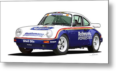 1984 Porsche 911 Sc Rs Illustration Metal Print
