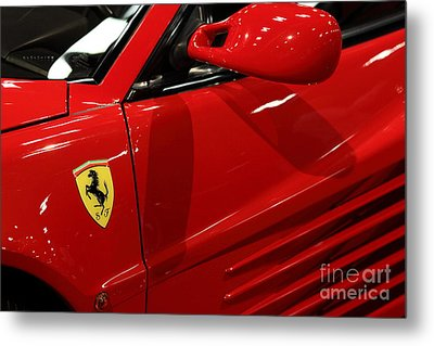 1986 Ferrari Testarossa - 5d20026 Metal Print by Home Decor