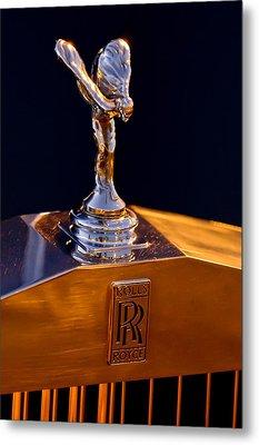 1986 Rolls-royce Hood Ornament Metal Print