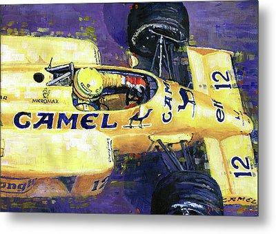1987 Spa Francorchamps Lotus 99t Ayrton Senna Metal Print by Yuriy Shevchuk