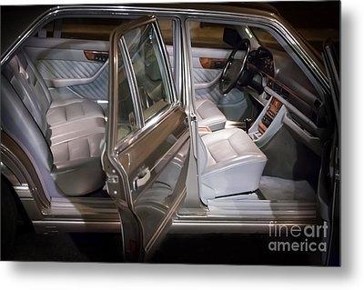 1990 Mercedes Sel Interior Metal Print