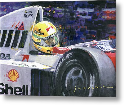 1990 Mclaren Honda Mp4 5b Ayrton Senna World Champion Metal Print by Yuriy Shevchuk