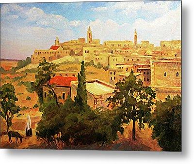 19th Century Bethlehem Painting  Metal Print