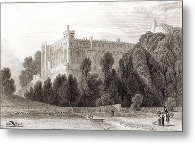 19th Century View Of Arundel Castle Metal Print by Vintage Design Pics