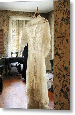19th Century Wedding Dress Metal Print
