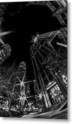 1st January, 2014, Charlotte, Nc, Usa - Nightlife Around Charlot Metal Print by Alex Grichenko