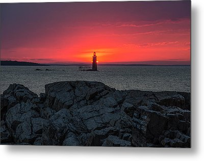 1st Light Metal Print by Paul Noble