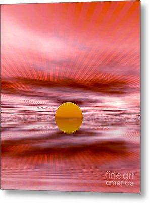 Sun Metal Print by Odon Czintos