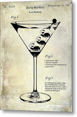 1897 Dirty Martini Patent Metal Print