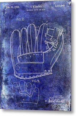 1943 Baseball Glove Patent Metal Print
