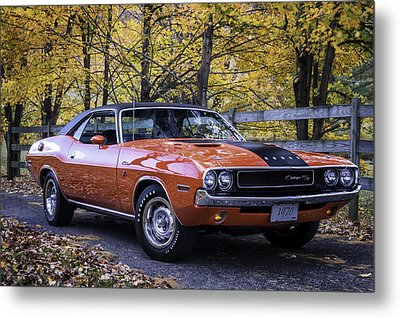 1970 Dodge Challenger Rt  Metal Print by Thomas Schoeller
