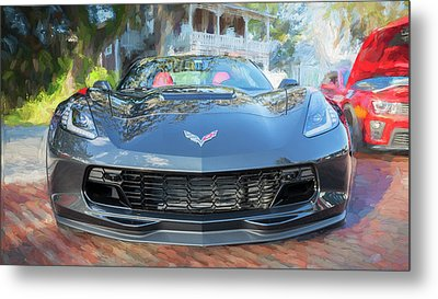Metal Print featuring the photograph 2017 Chevrolet Corvette Gran Sport  by Rich Franco