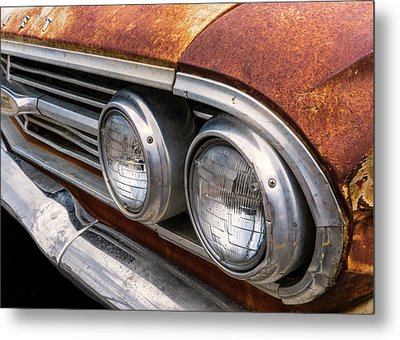Metal Print featuring the photograph 50s Chevrolet Front End by Jim Hughes