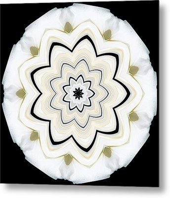9 Petaled Designs Metal Print by Baha'i Writings As Art